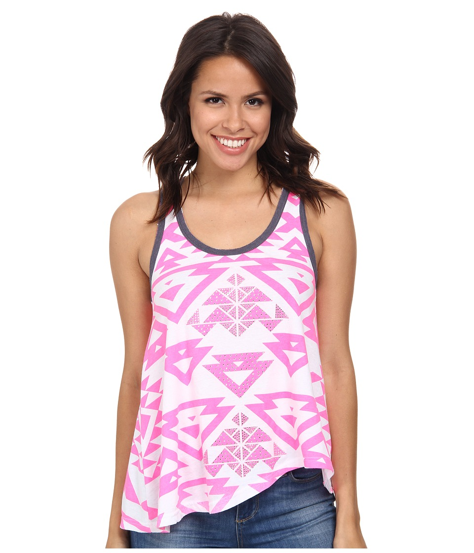 Rock and Roll Cowgirl - Knit Tank Top 49-3392 (Hot Pink) Women's Sleeveless