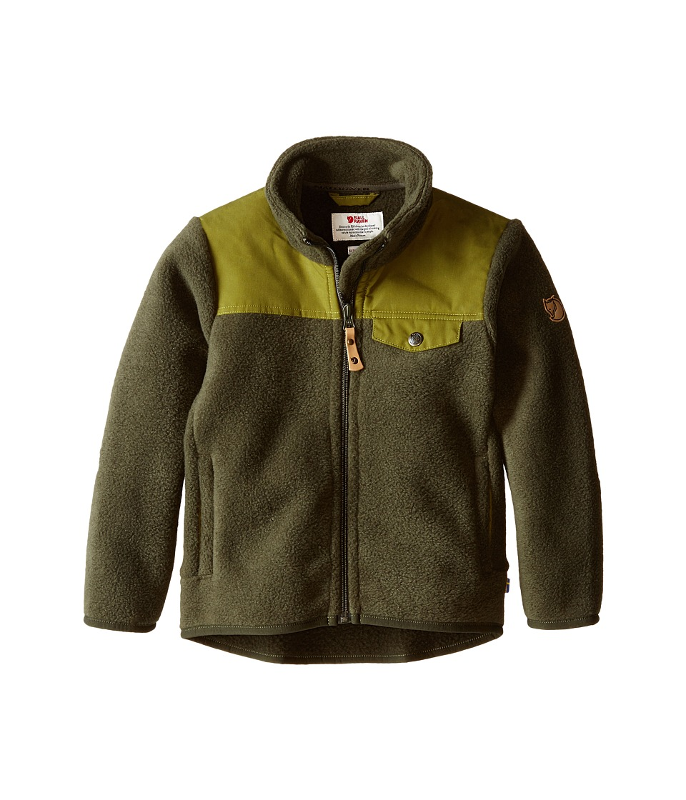 Fjallraven Kids - Kids Singi Fleece Jacket (Olive) Kid's Coat