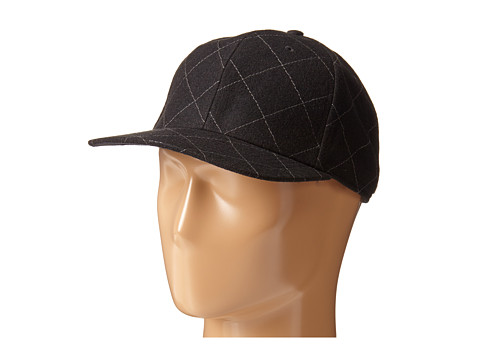 San Diego Hat Company - SDH2047 Quilted Wool Cap with Adjustable Back (Black) Caps