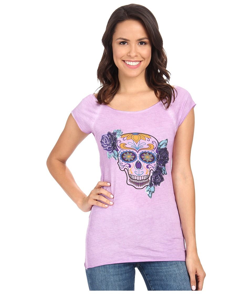 Rock and Roll Cowgirl - Cap Sleeve T-Shirt 49T3409 (Iris) Women's T Shirt