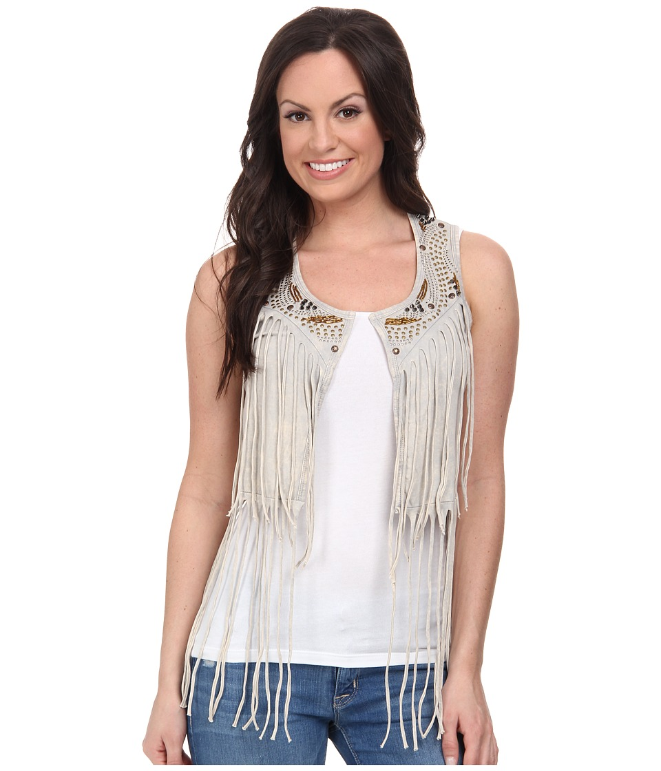 Rock and Roll Cowgirl - Vest 49V3368 (Pale Grey) Women's Vest
