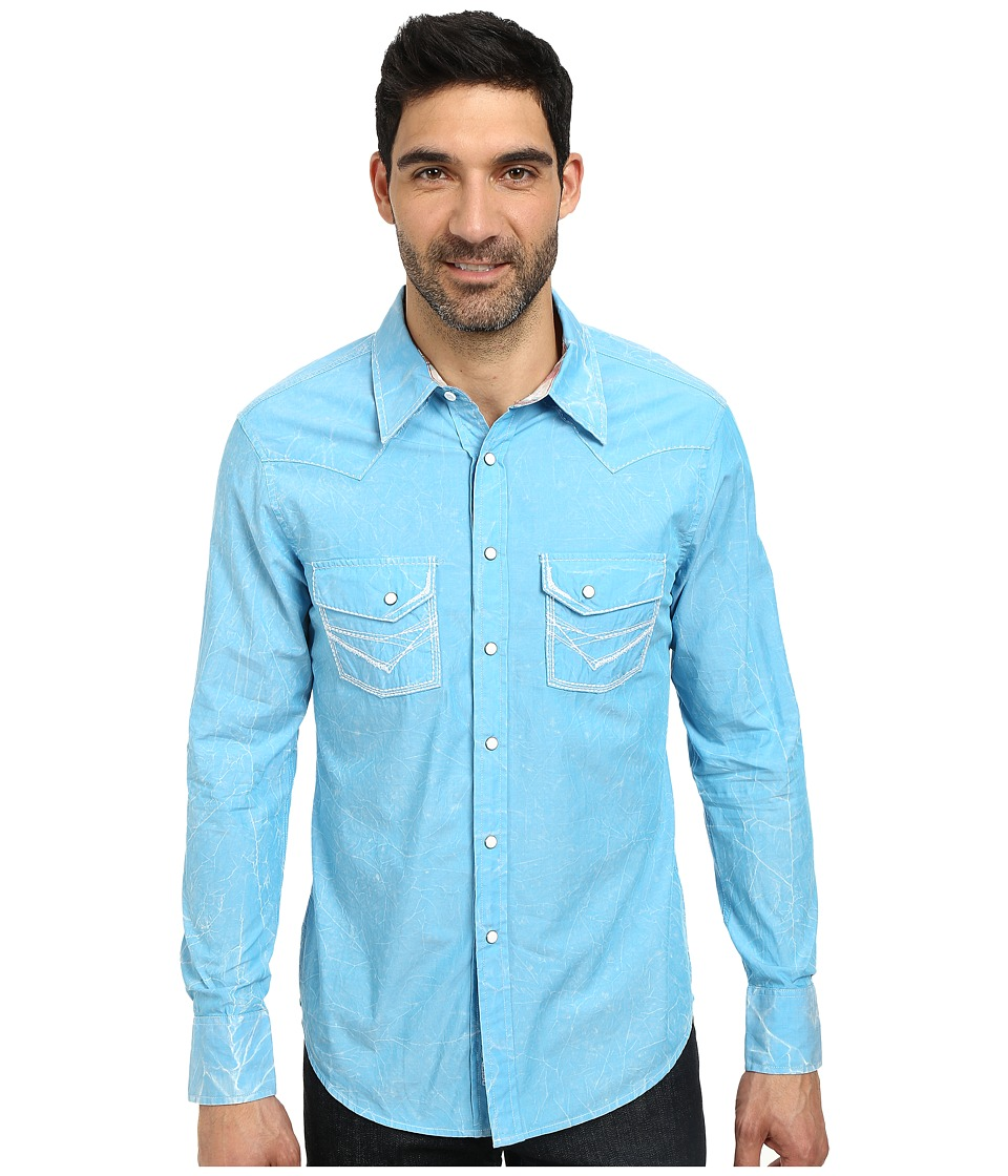 Rock and Roll Cowboy - Long Sleeve Snap B2S3015 (Turquoise) Men's Long Sleeve Button Up