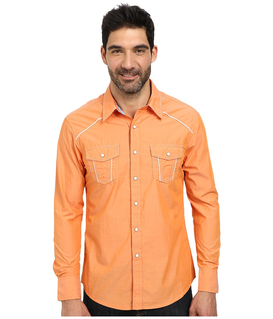 Rock and Roll Cowboy - Long Sleeve Snap B2S3020 (Orange) Men's Long Sleeve Button Up