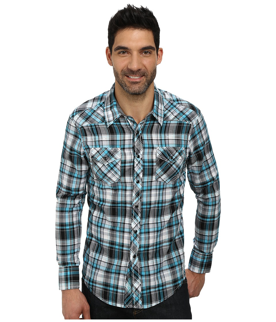 Rock and Roll Cowboy - Long Sleeve Snap B2S3017 (Turquoise) Men's Long Sleeve Button Up