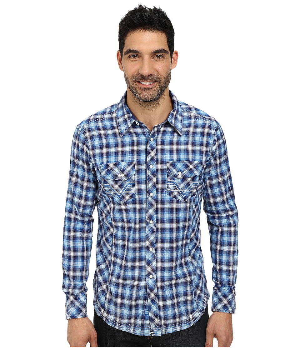 Rock and Roll Cowboy - Long Sleeve Snap B2S3010 (Blue) Men's Long Sleeve Button Up
