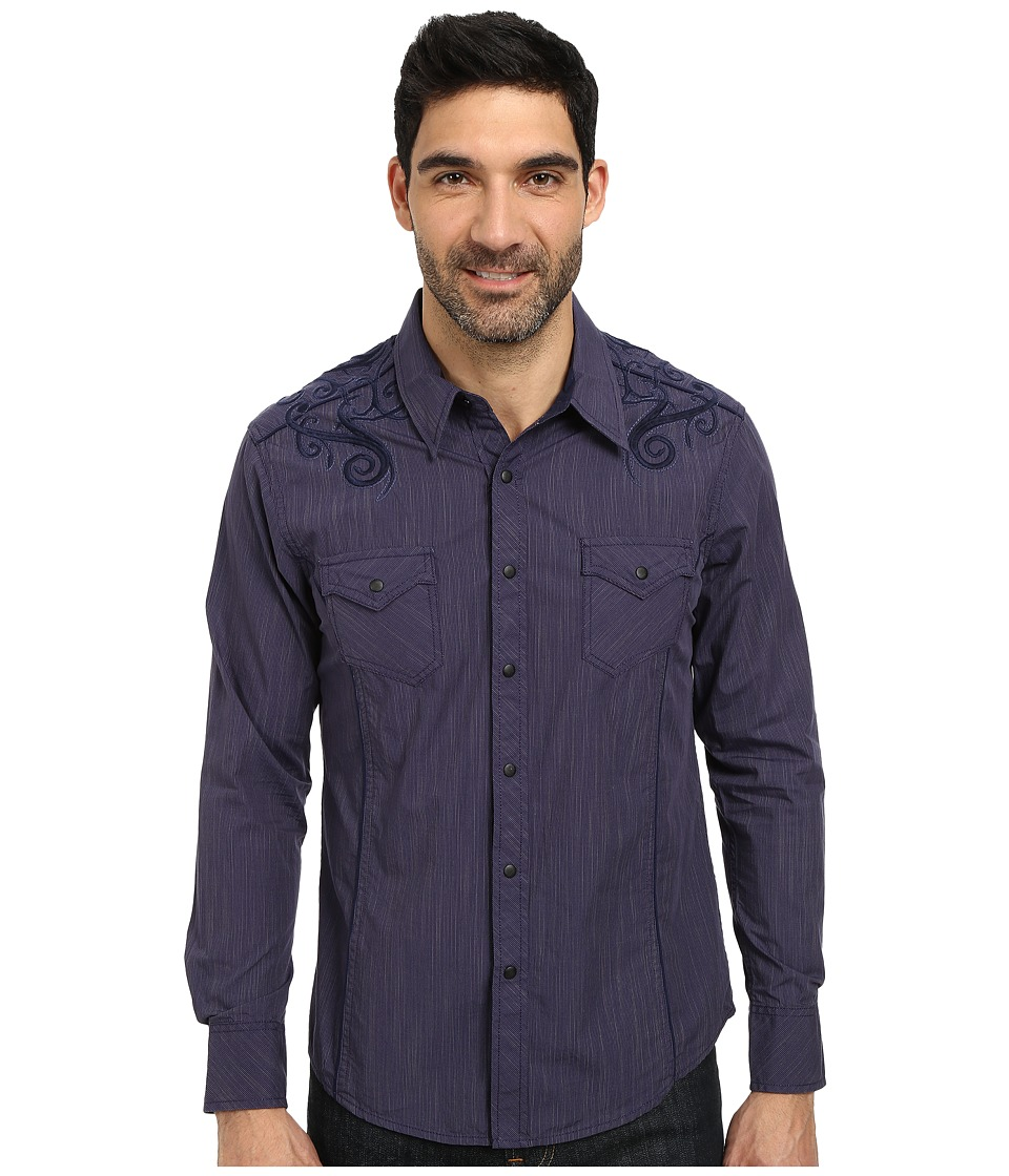 Rock and Roll Cowboy - Long Sleeve Snap B2S3034 (Navy) Men's Long Sleeve Button Up