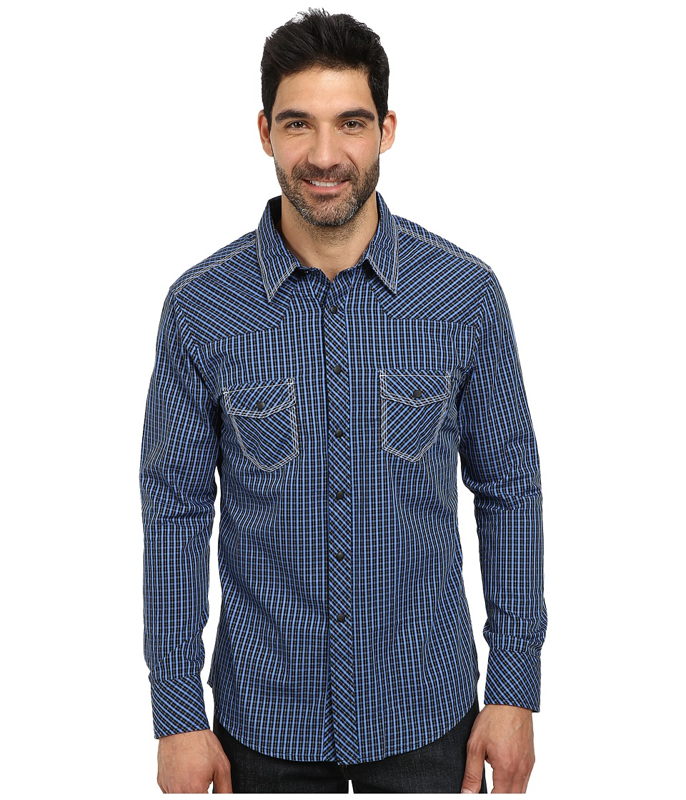 Rock and Roll Cowboy - Long Sleeve Snap B2S3028 (Blue) Men's Long Sleeve Button Up