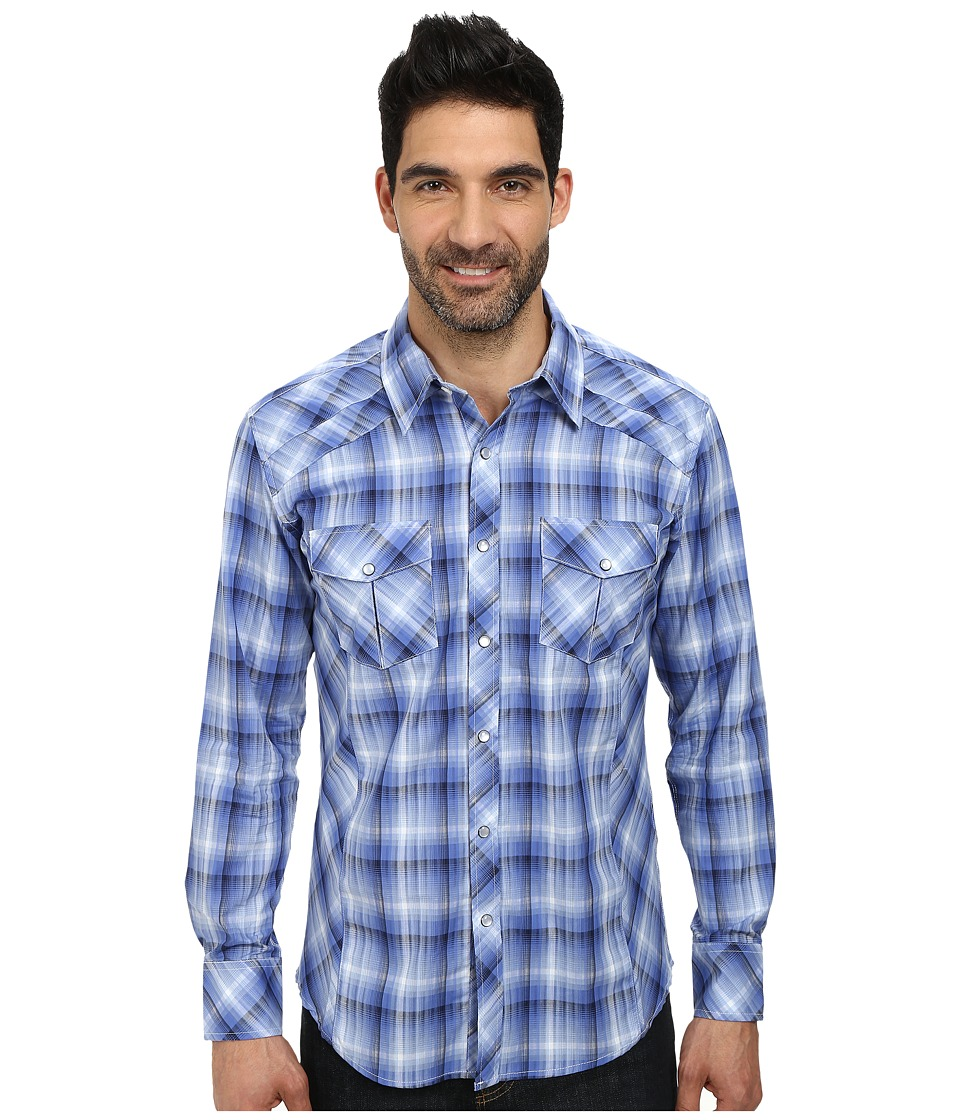Rock and Roll Cowboy - Long Sleeve Snap B2S3013 (Blue) Men's Long Sleeve Button Up
