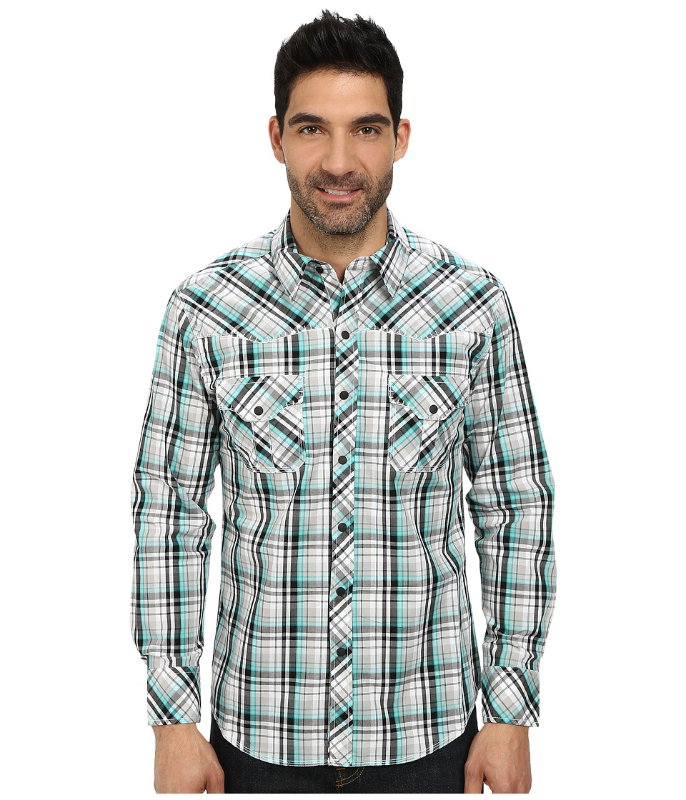 Rock and Roll Cowboy - Long Sleeve Snap B2S3004 (Mint) Men's Long Sleeve Button Up