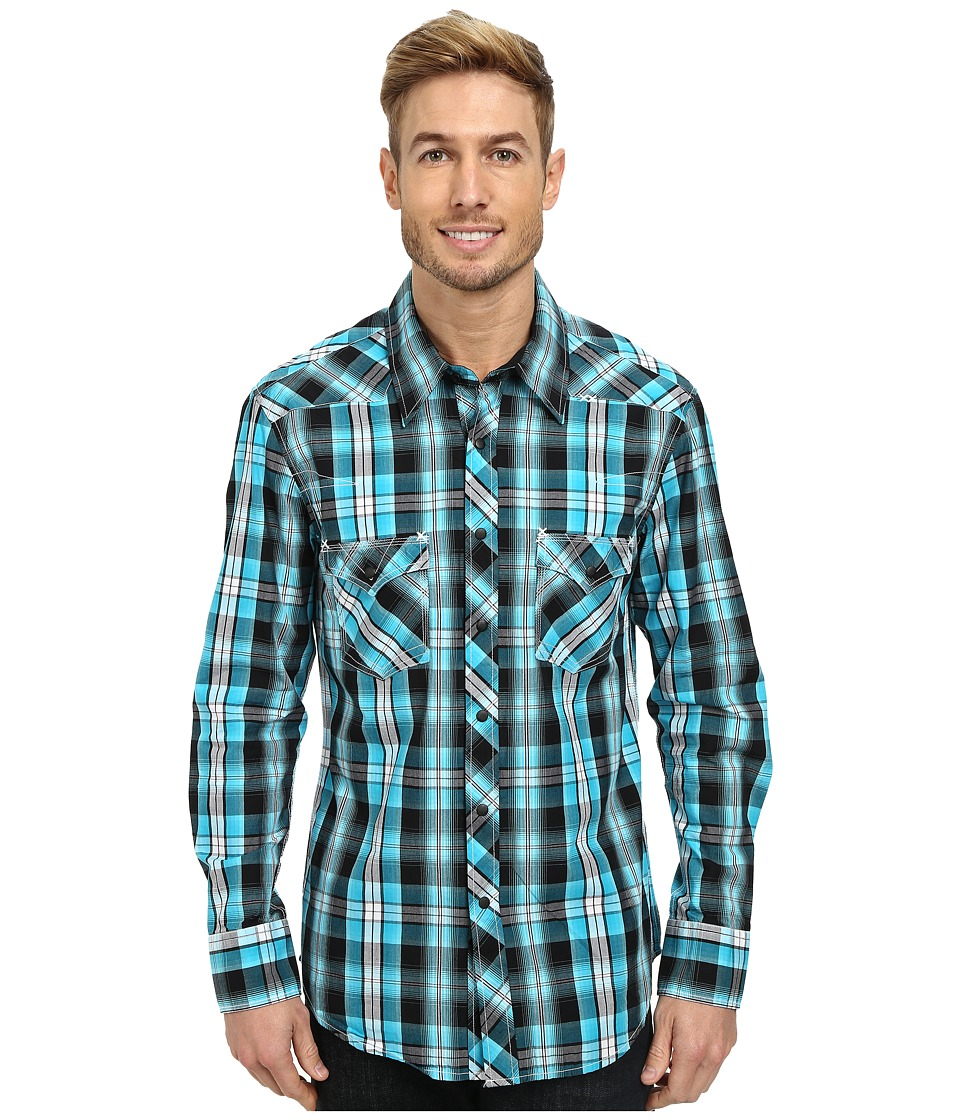 Rock and Roll Cowboy - Long Sleeve Snap B2S3033 (Turquoise) Men's Long Sleeve Button Up