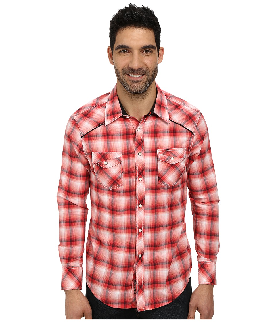 Rock and Roll Cowboy - Long Sleeve Snap B2S3001 (Red) Men's Long Sleeve Button Up