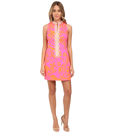 Lilly Pulitzer - Alexa Shift Dress (Pop Pink Seaesta) Women's Dress
