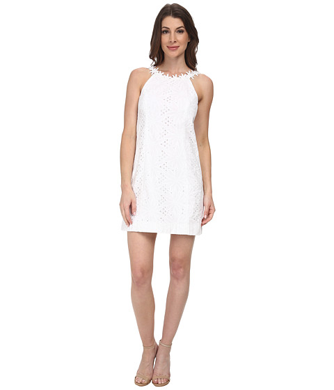 Lilly Pulitzer - Annabelle Shift Dress (Resort White) Women's Dress