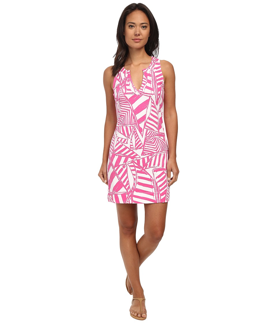 Lilly Pulitzer - Estrada Shift Dress (Capri Pink Yacht Sea) Women's Dress