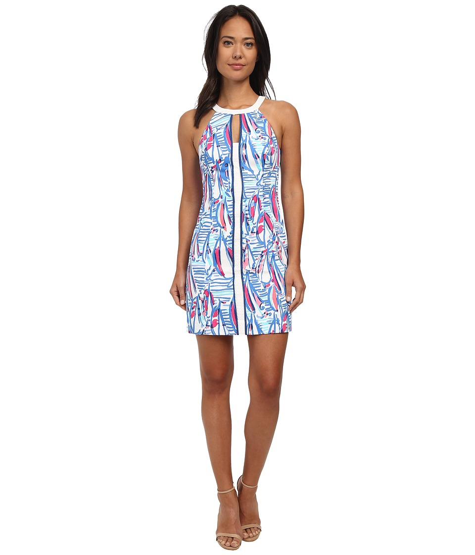 Lilly Pulitzer - Pearl Shift Dress (Resort White Red Right Return) Women's Dress