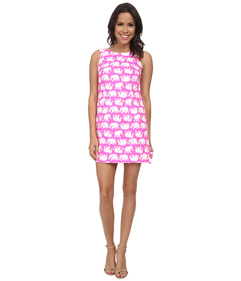 Lilly Pulitzer - Delia Shift Dress (Pop Pink Tusk In Sun) Women's Dress