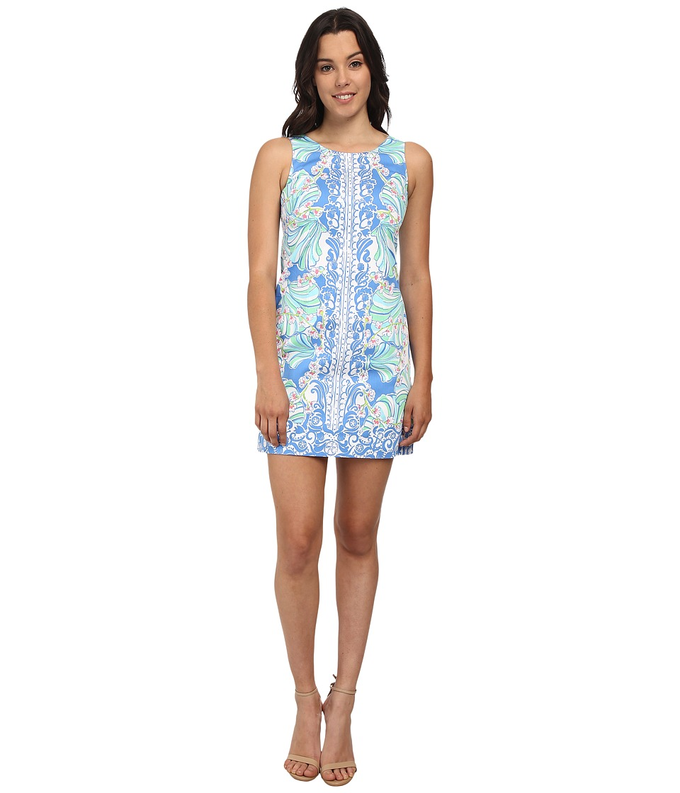 Lilly Pulitzer - Cathy Shift Dress (Bay Blue Coasting Engineered Shells) Women's Dress