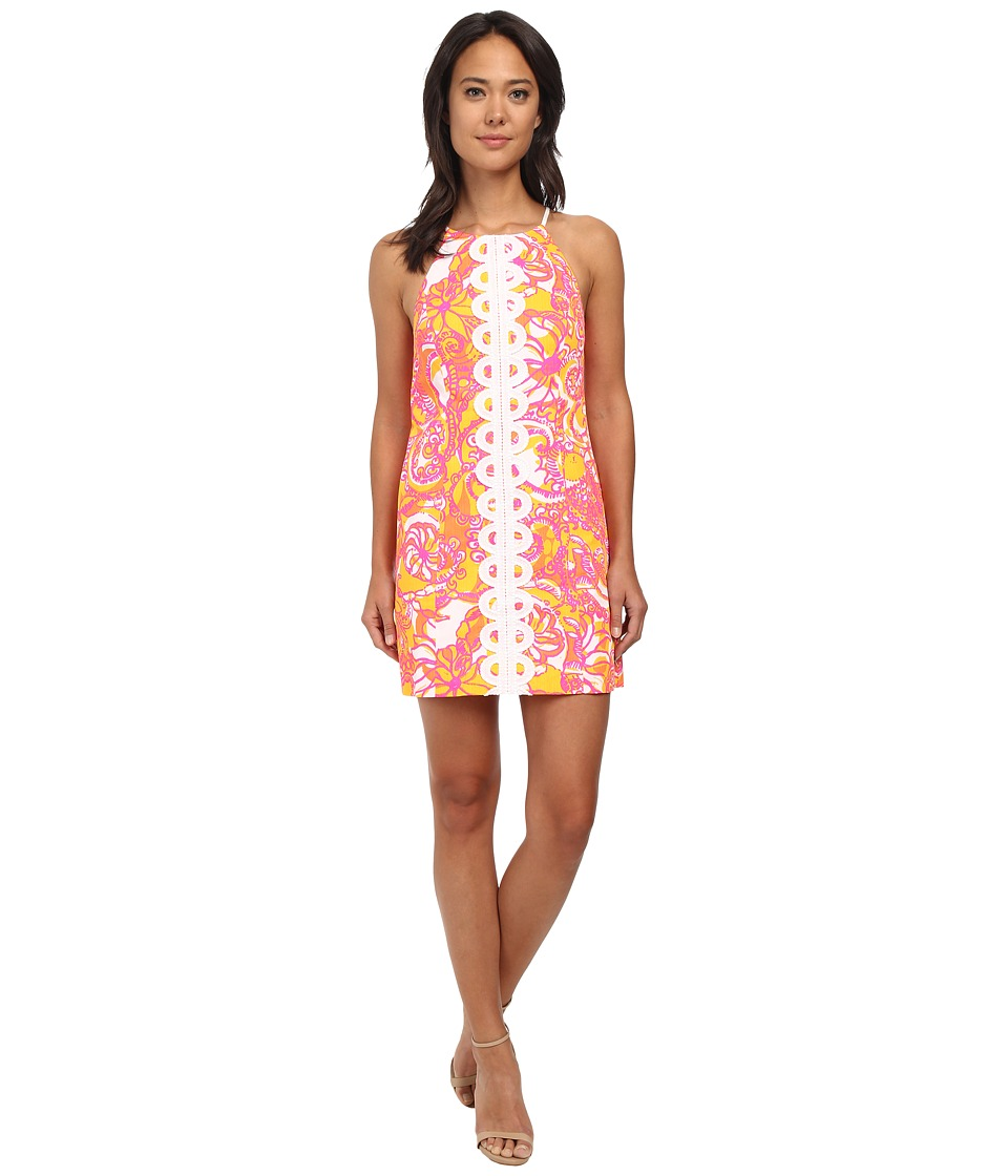 Lilly Pulitzer - Annabelle Shift Dress (Sunshine Yellow Sea And Be Seen) Women's Dress