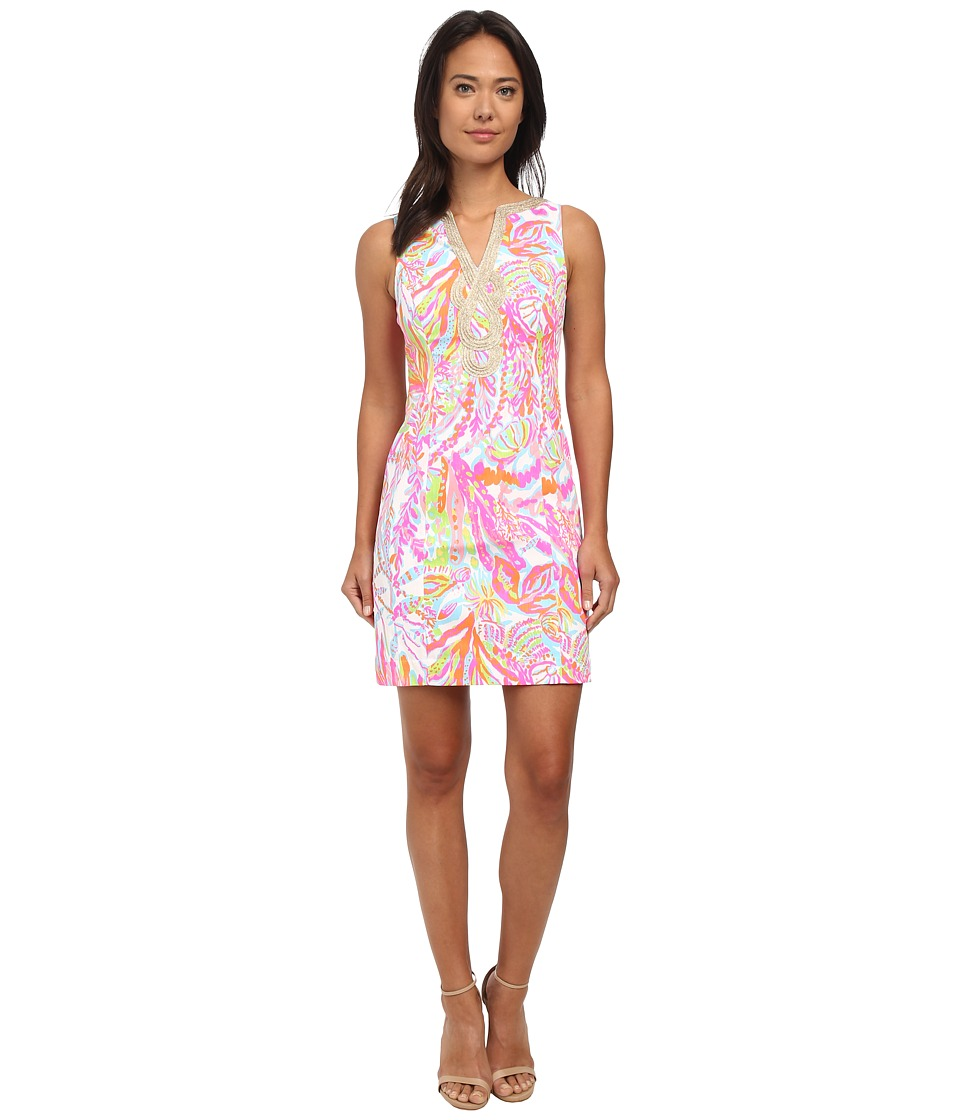 Lilly Pulitzer - Janice Shift Dress (Resort White Scuba to Cuba) Women's Dress
