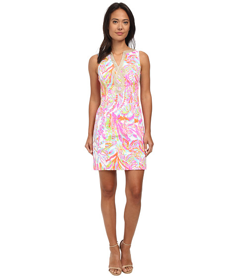 Lilly Pulitzer - Janice Shift Dress (Resort White Scuba to Cuba) Women