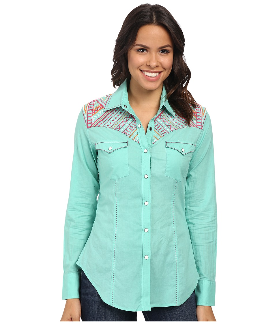 Rock and Roll Cowgirl - Long Sleeve Snap B4S3786 (Mint) Women