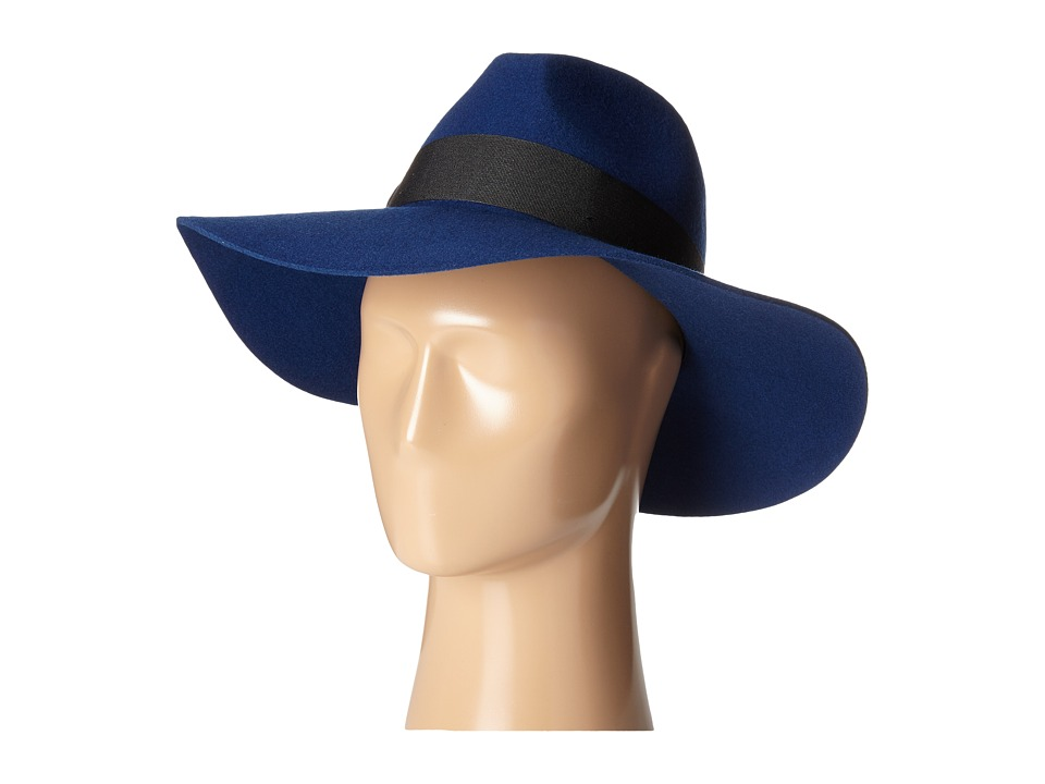 San Diego Hat Company - WFH7962 Floppy with Pinch Crown and Grosgrain Bow Trim (Cobalt) Caps