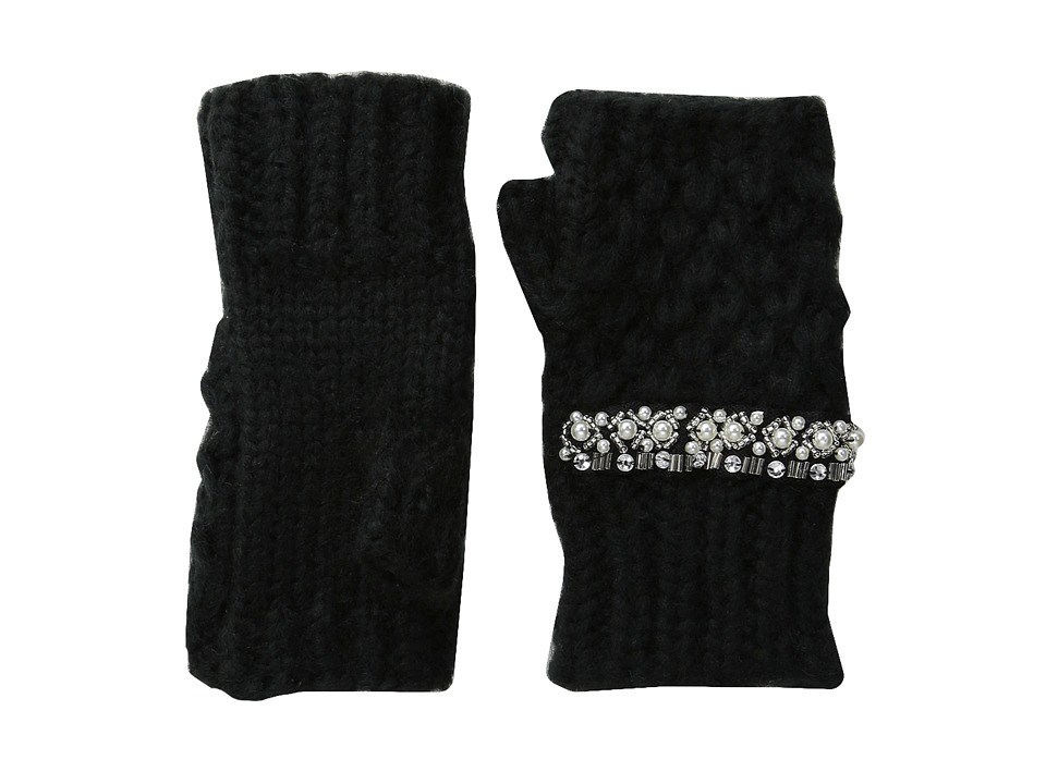 San Diego Hat Company - KNG3401 Chunky Fingerelss Gloves with Faux Gems (Black) Extreme Cold Weather Gloves