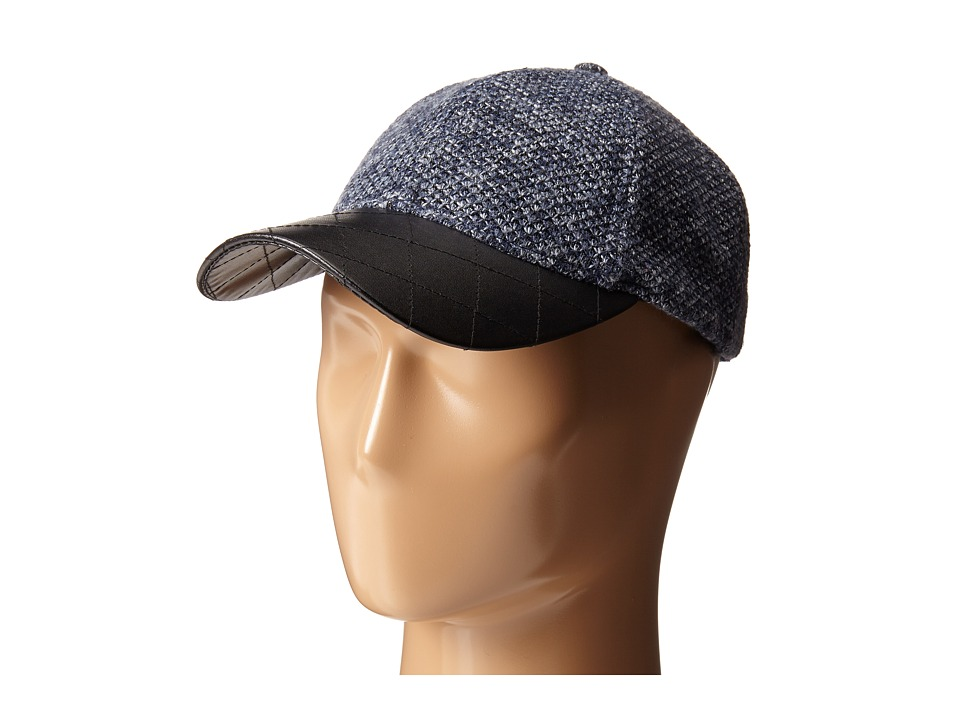 San Diego Hat Company - CTH4115 Nubby Tweed Ball Cap with Quilted PU Bill (Cobalt) Caps