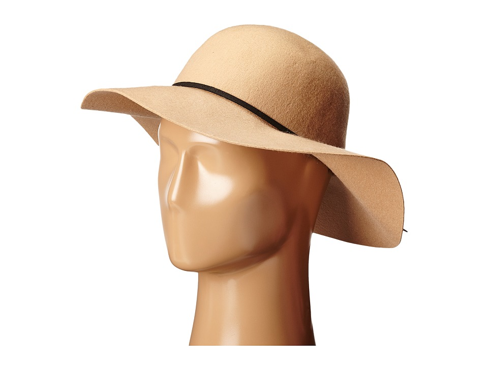 San Diego Hat Company - WFH7950 Floppy with Round Crown and Faux Suede Band (Camel) Caps