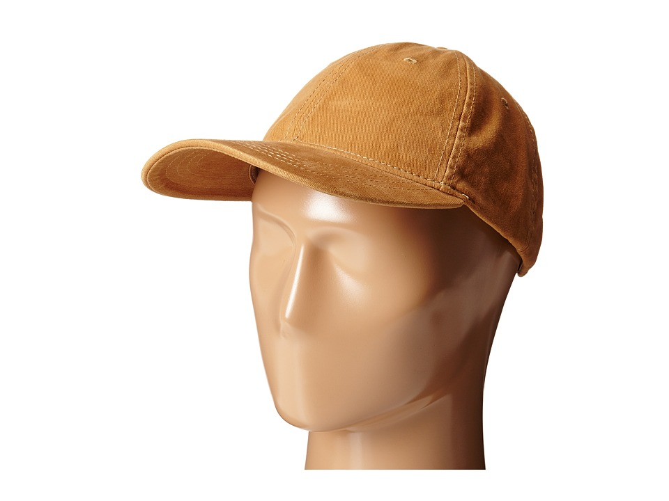 San Diego Hat Company - CTH4153 Washed Ball Cap with Adjustable Leather Back (Camel) Caps
