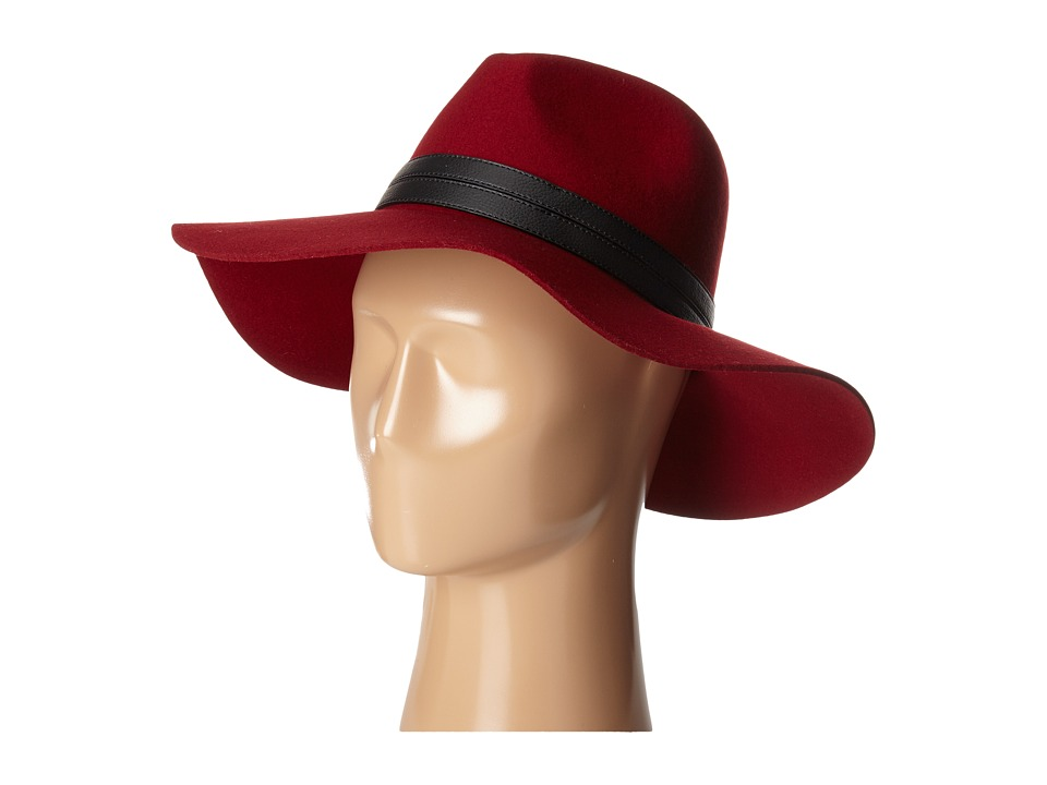 San Diego Hat Company - WFH7964 Floppy with Pinch Crown and Double PU Band (Garnet) Caps