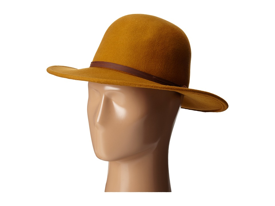 San Diego Hat Company - WFH7958 Floppy Round Crown and Leather Band (Amber) Caps