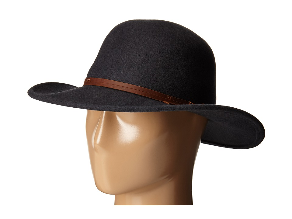 San Diego Hat Company - WFH7958 Floppy Round Crown and Leather Band (Balsam Green) Caps