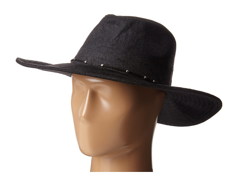 San Diego Hat Company - CTH4097 Textured Fur Rancher with Silver Bead Trim (Charcoal) Caps