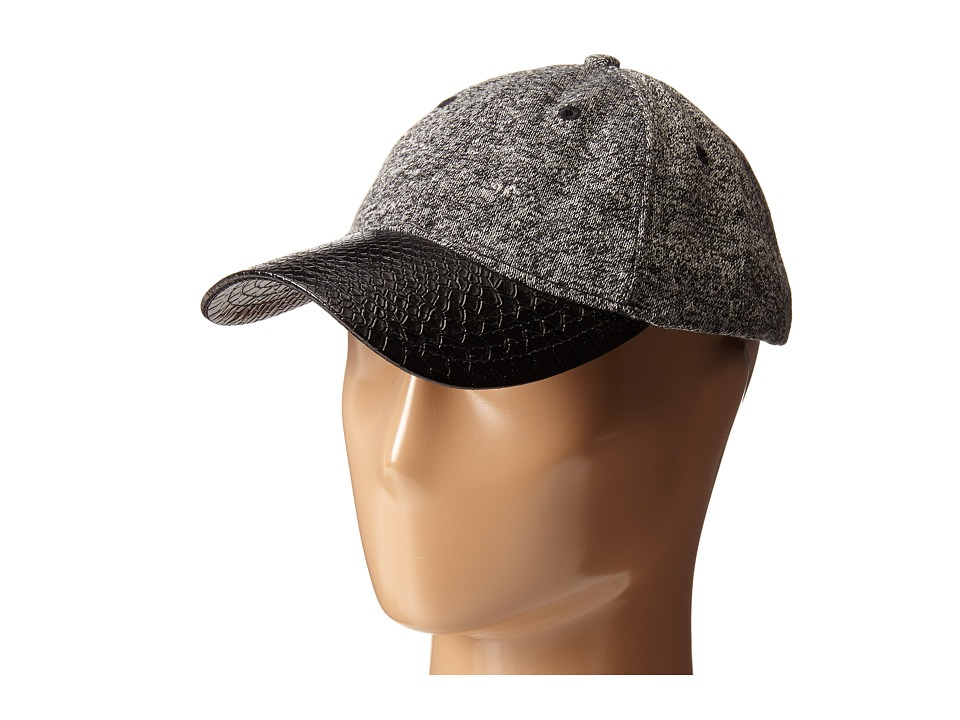 San Diego Hat Company - CTH4109 Tweed Knit Ball Cap (Black) Caps