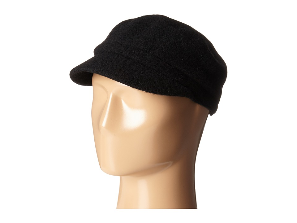 San Diego Hat Company - SDH5016 Wool Cabby with Faux Jewel Trim (Black) Caps