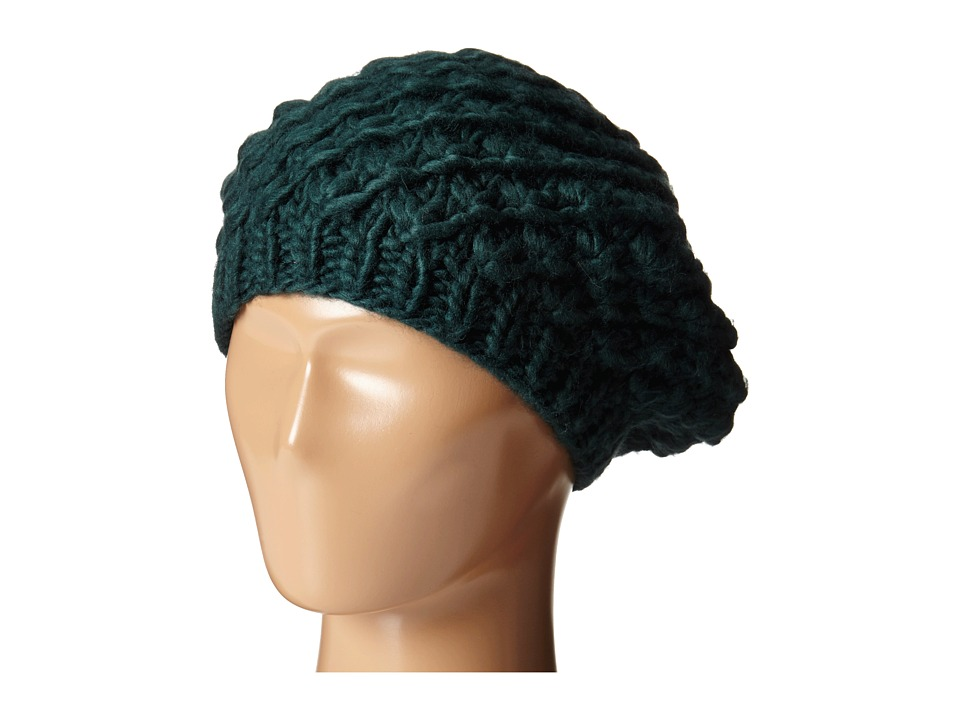 San Diego Hat Company - KNH3366 Chunky Yarn Woven Beret (Teal) Caps