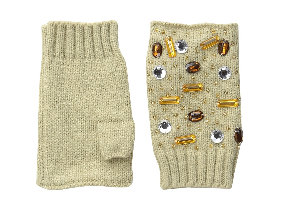 San Diego Hat Company - KNG3399 Fingerless Gloves with Handstitched Faux Gems (Camel) Extreme Cold Weather Gloves
