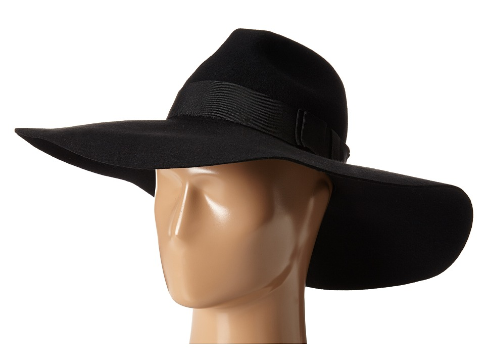 San Diego Hat Company - WFH8015 X Large Floppy with Pinch Crown and Grosgrain Bow (Black) Caps