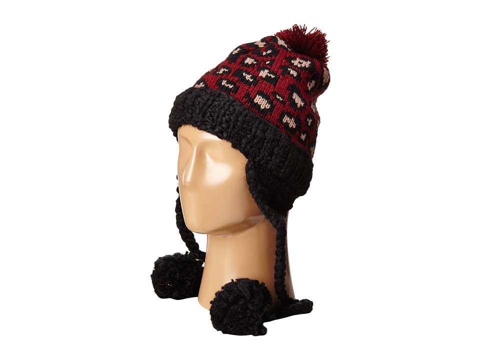 San Diego Hat Company - KNH3372 Knit Beanie Trapper with Pom Poms (Leopard) Beanies