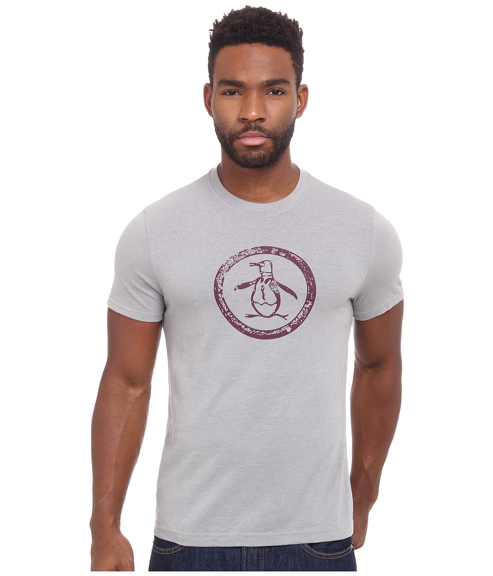 Original Penguin - Triblend Distressed Circle Logo Tee (Griffin) Men's T Shirt