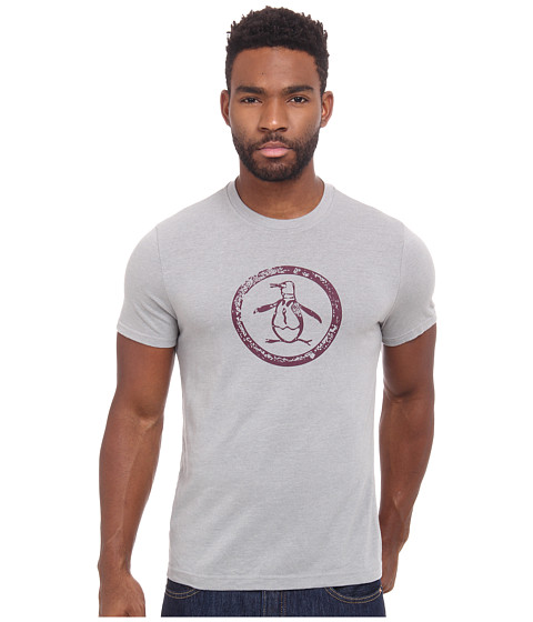 Original Penguin - Triblend Distressed Circle Logo Tee (Griffin) Men
