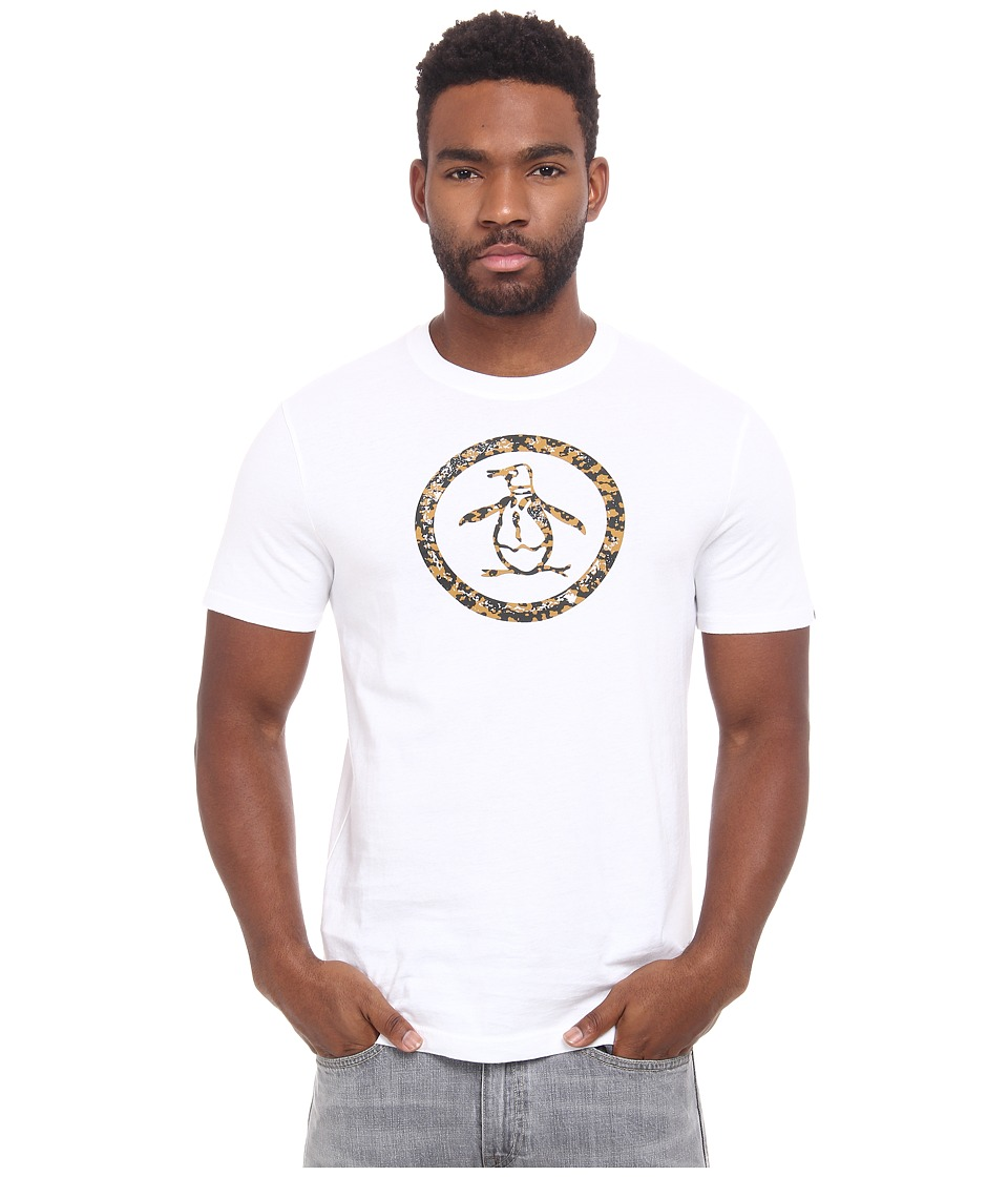 Original Penguin - Camo Fill Circle Logo Heritage Tee (Bright White) Men