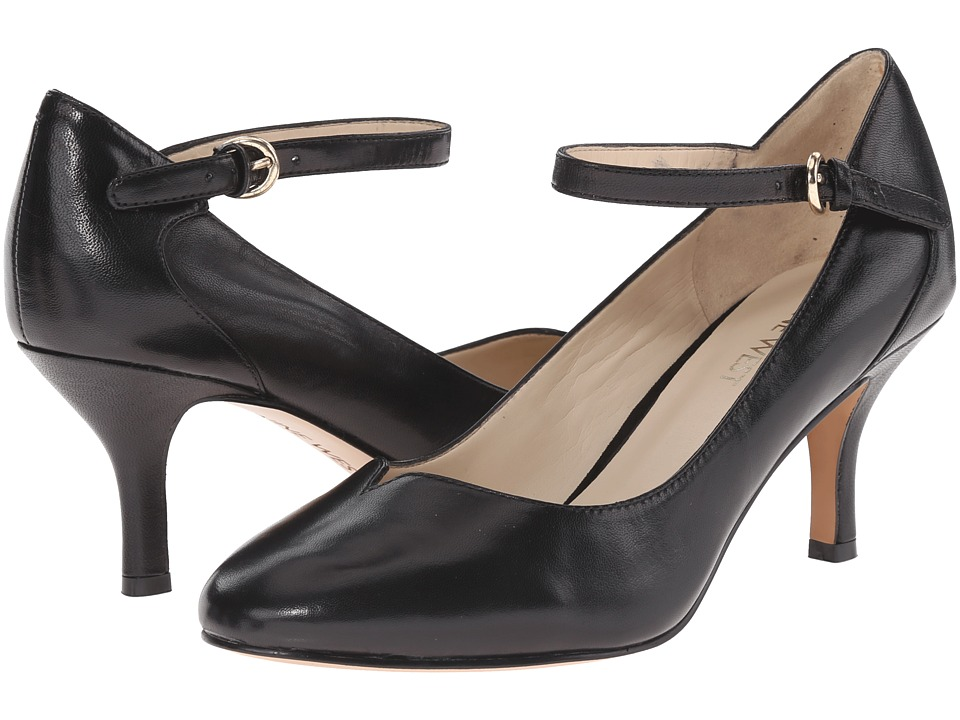 Nine West - Elope (Black Leather) High Heels