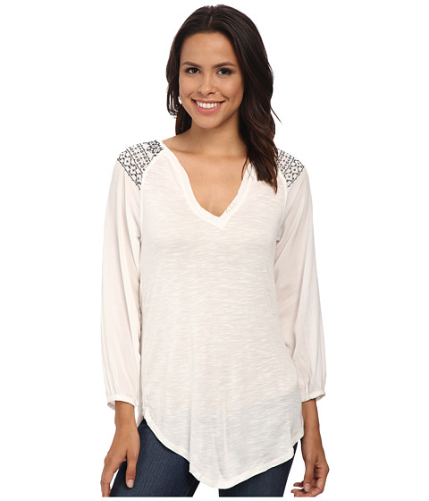 Sanctuary - Wayward Boho Top (Moonrise/Onyx) Women's Long Sleeve Pullover