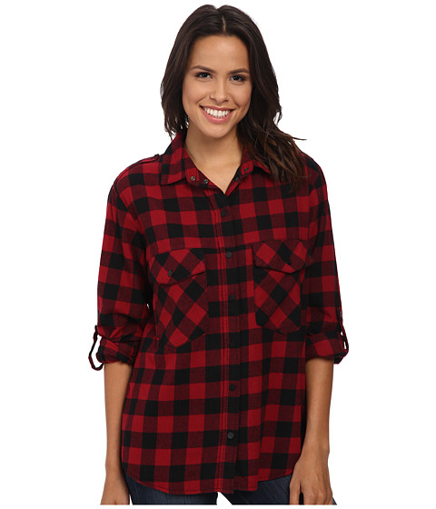Sanctuary - Boyfriend Shirt (Sherry) Women's Long Sleeve Button Up