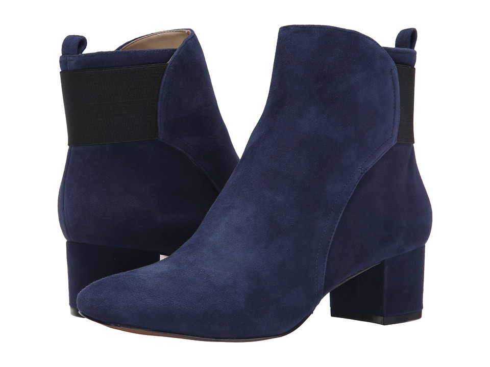 Nine West - Faceit (Navy/Black Suede) Women's Boots