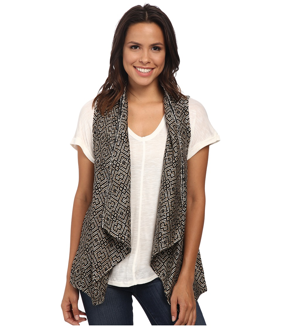 Sanctuary - Montana Vest (Black/White) Women's Vest