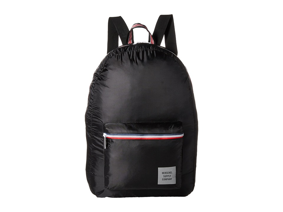 Herschel Supply Co. - Packable Daypack (Black/Zip) Backpack Bags