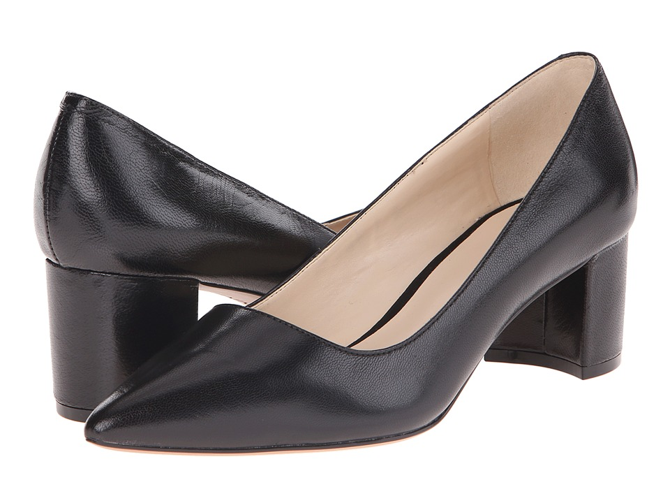 Nine West - Ike (Black Leather) Women's 1-2 inch heel Shoes